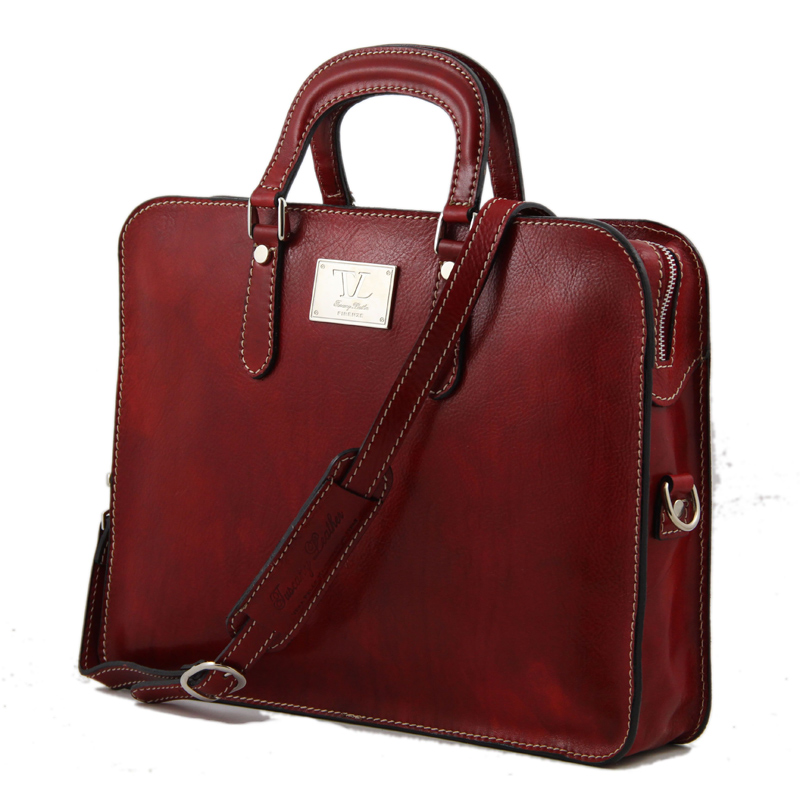 womens leather briefcase photo - 1