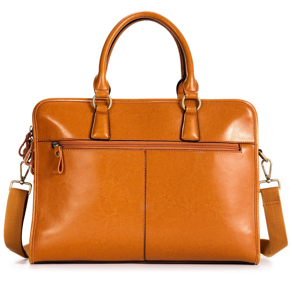 womens leather briefcase laptop photo - 1