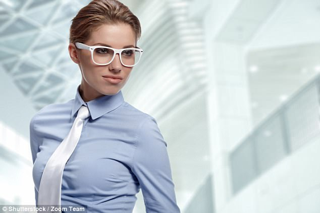 womens office shirt with cleavage photo - 1