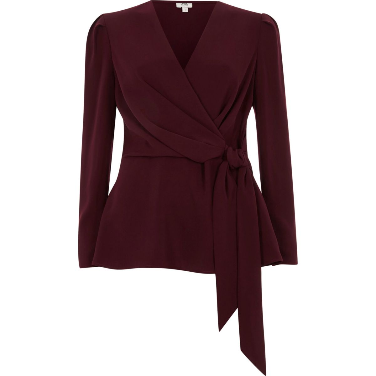 wrap blouse with tie photo - 1