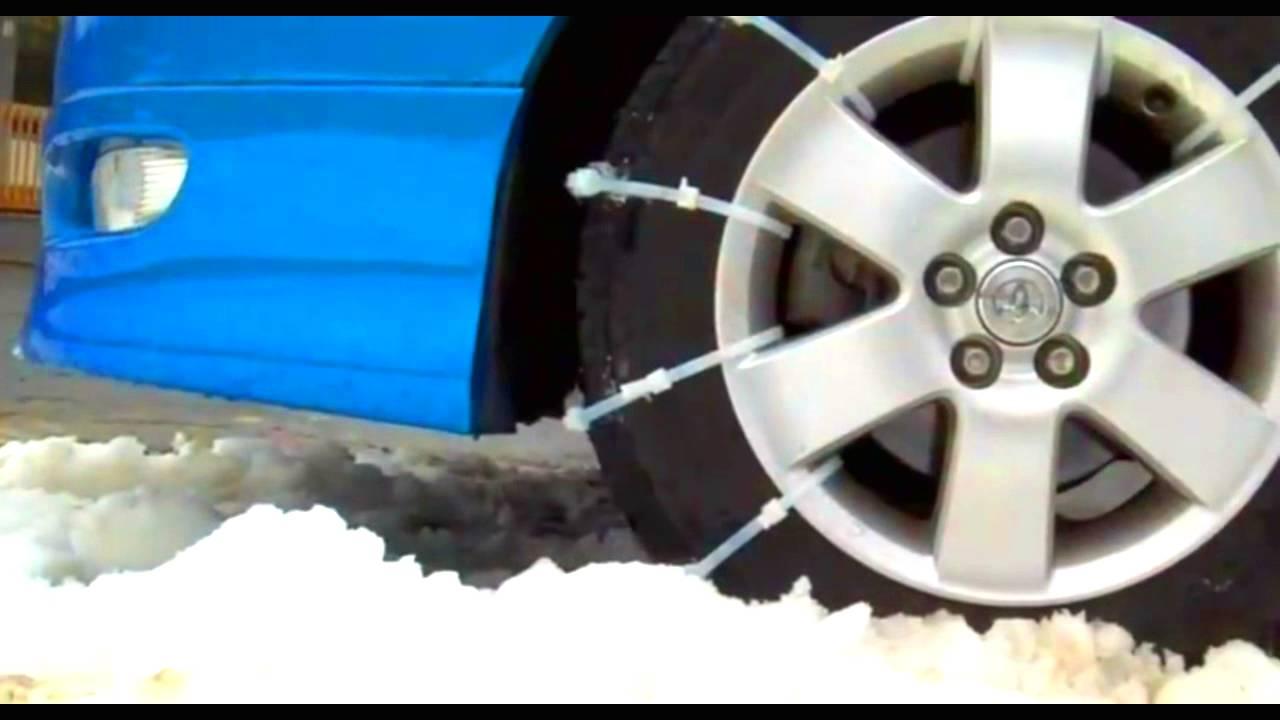 zip tie tire chains photo - 1