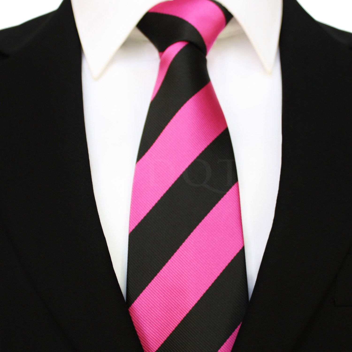 black and pink tie photo - 1