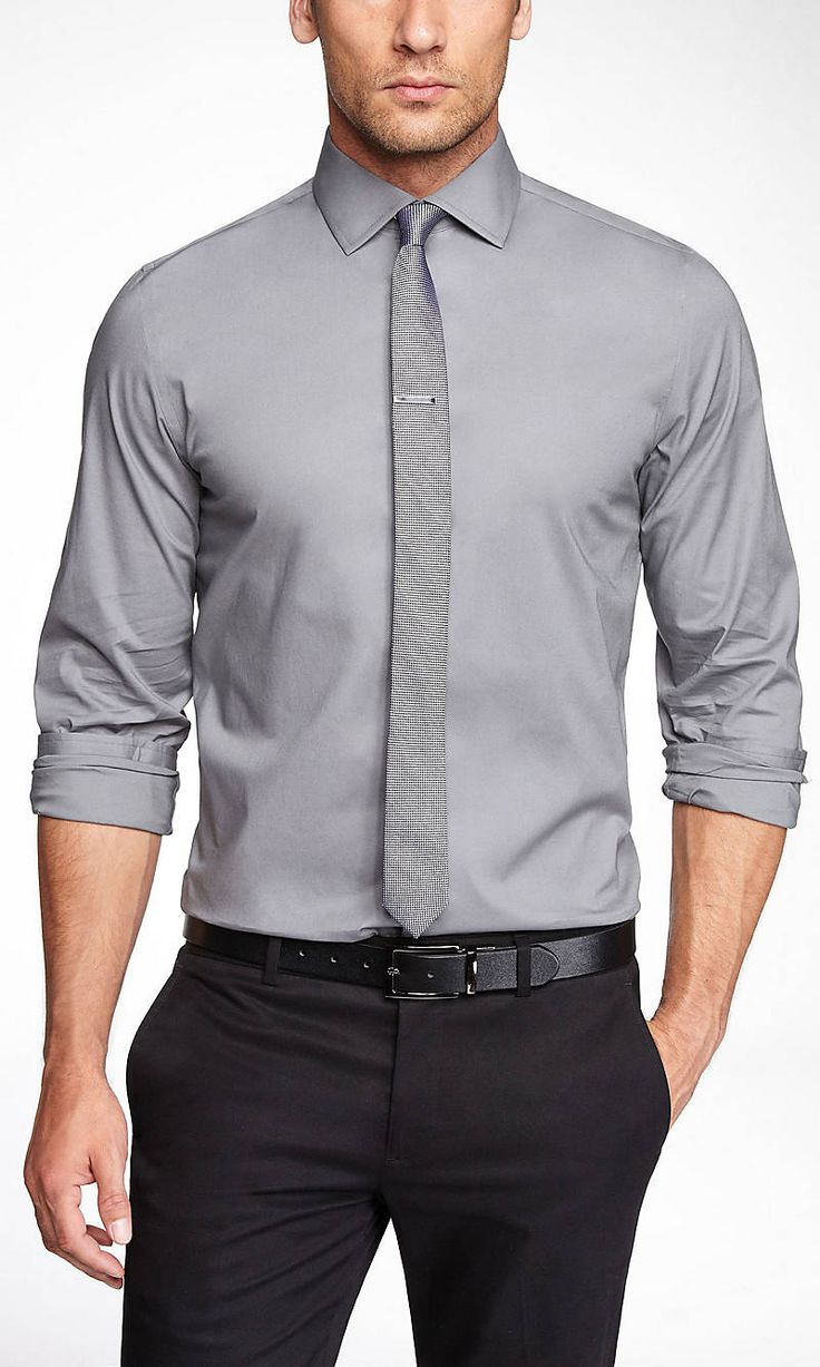 black dress shirt in the office photo - 1
