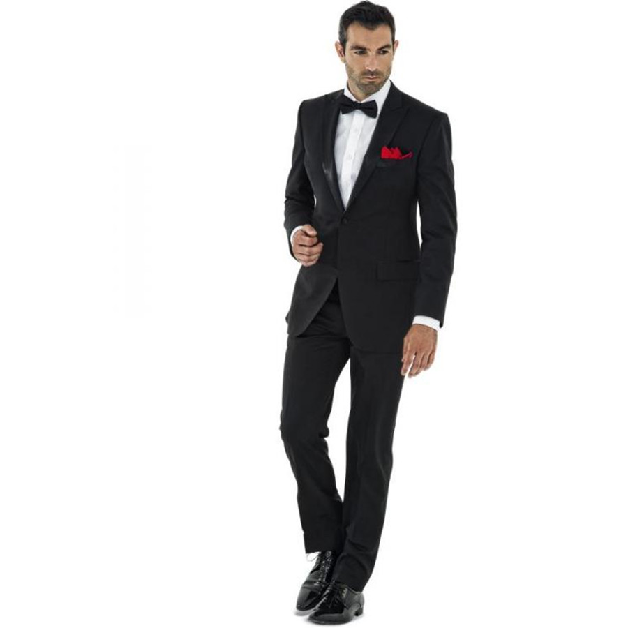 black suit with bow tie photo - 1