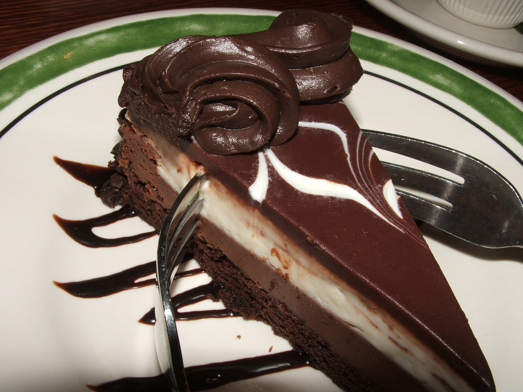black tie mousse cake photo - 1
