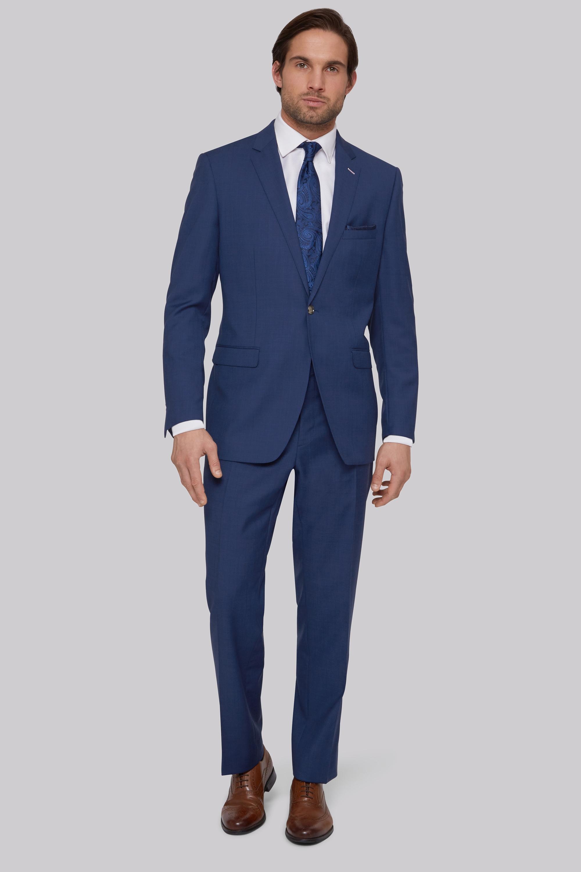 blue suit blue tie photo - 1