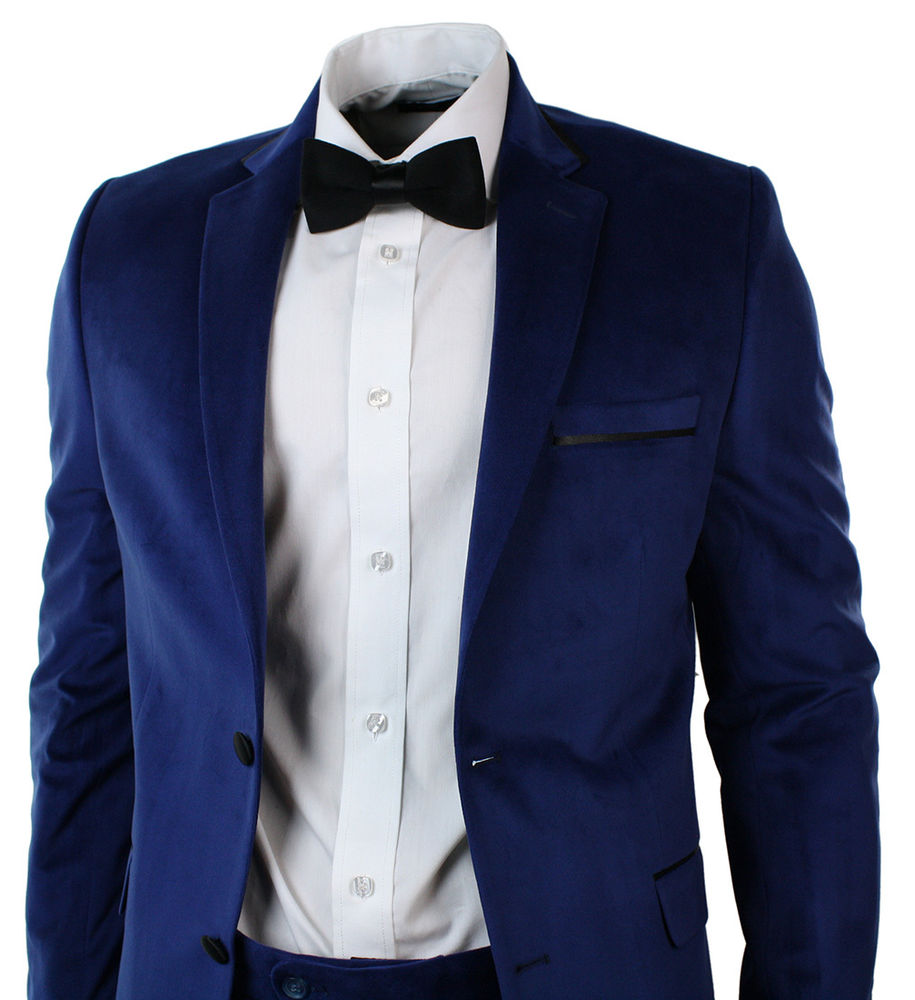 blue suit bow tie photo - 1