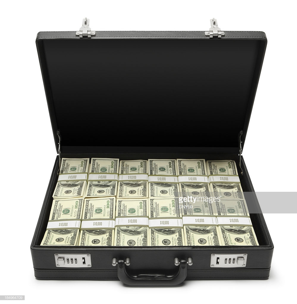 briefcase of money photo - 1