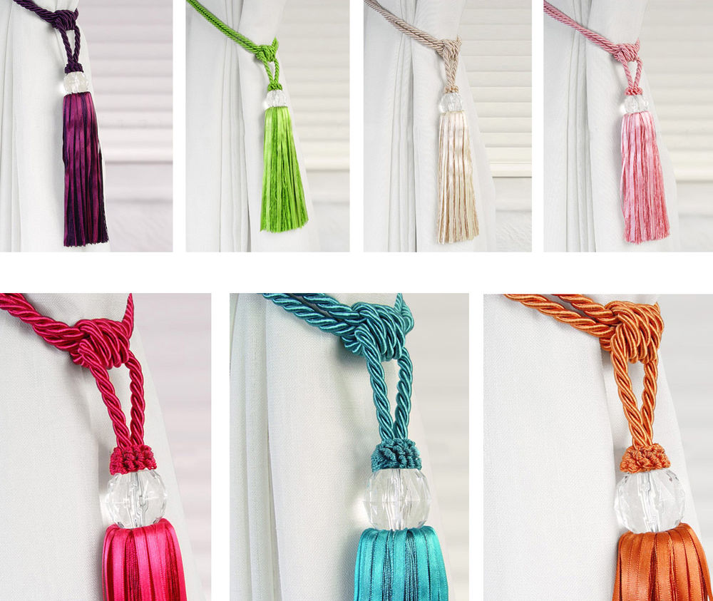 crystal curtain tie back photo - 1