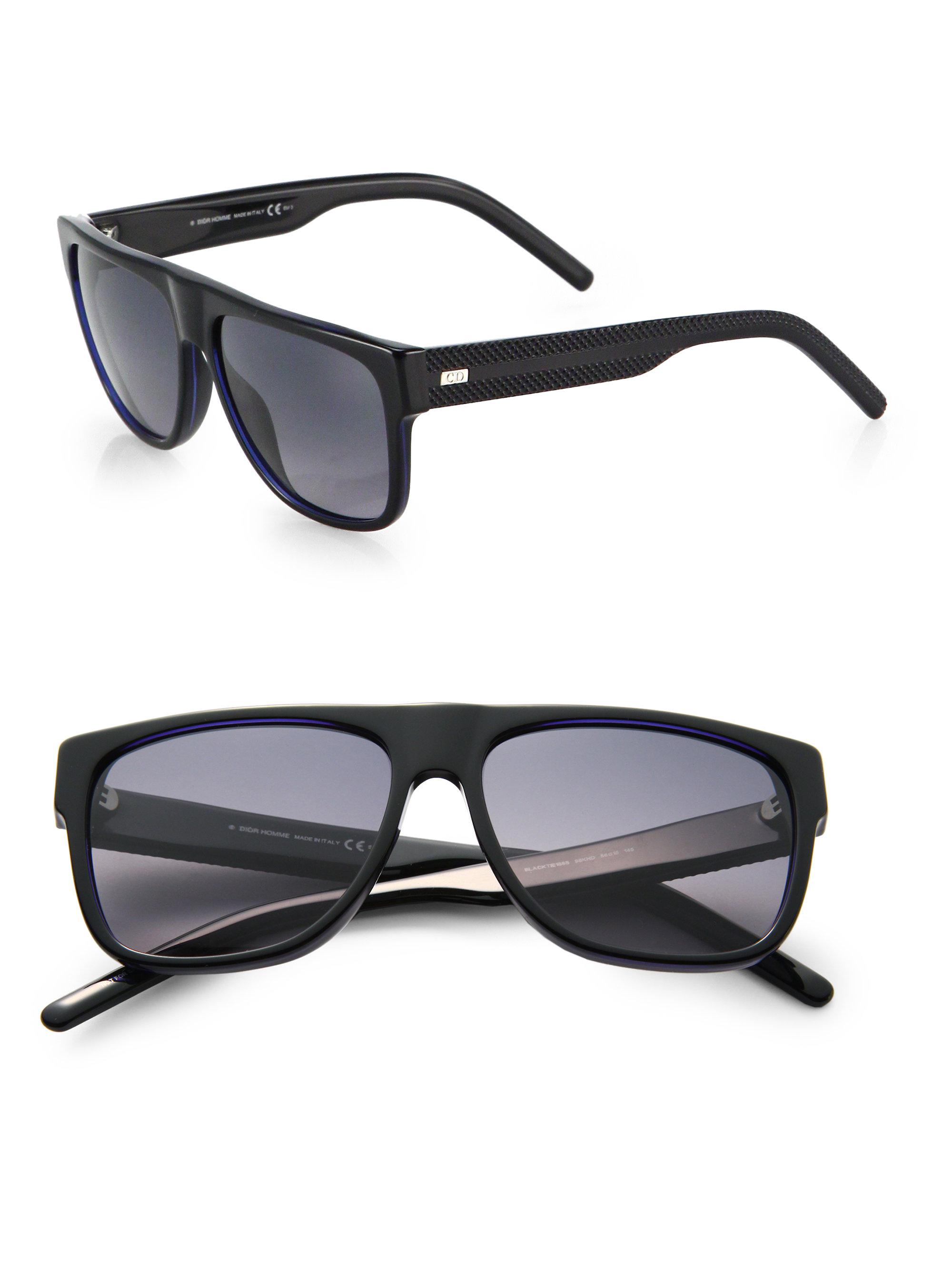 dior black tie sunglasses photo - 1