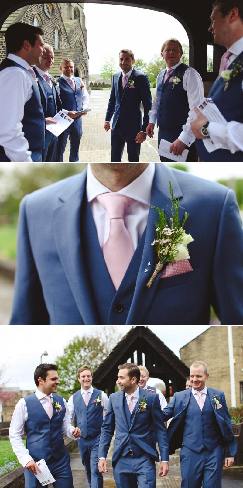 dusty blue tie photo - 1