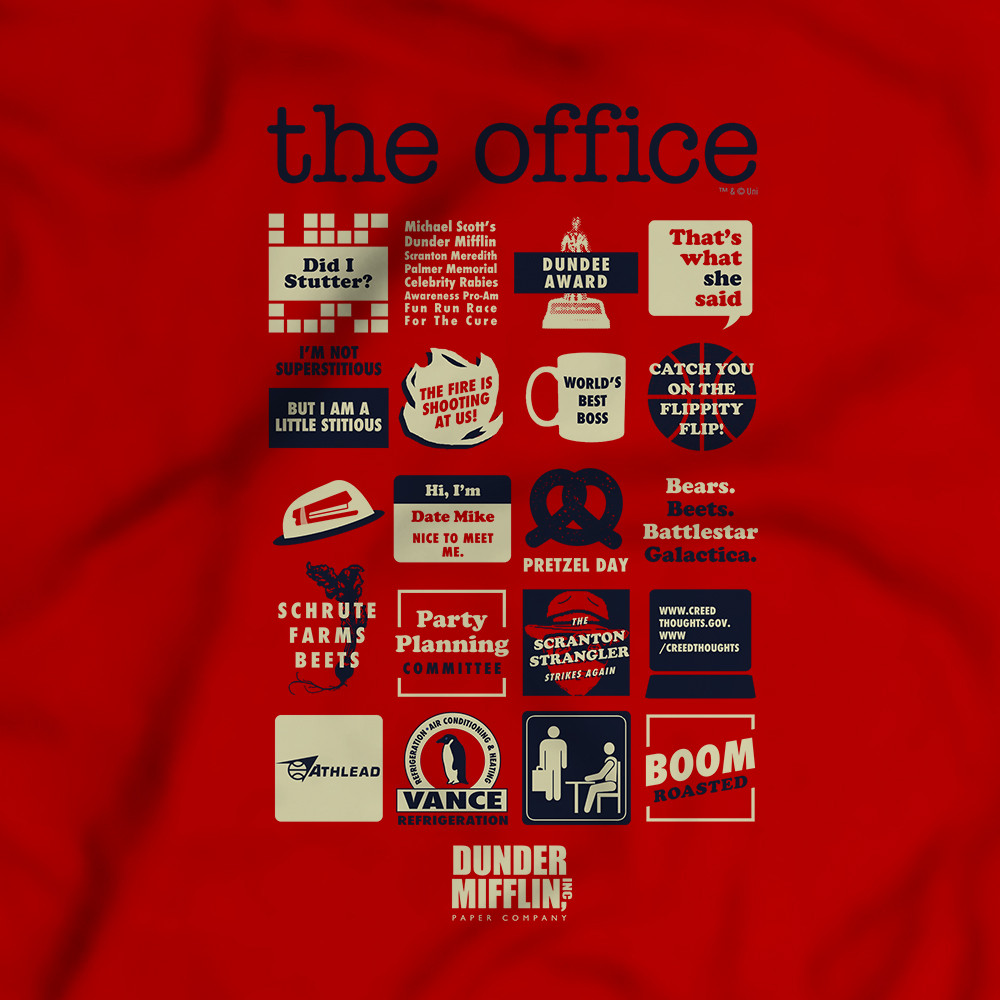 office quote mashup t shirt photo - 1