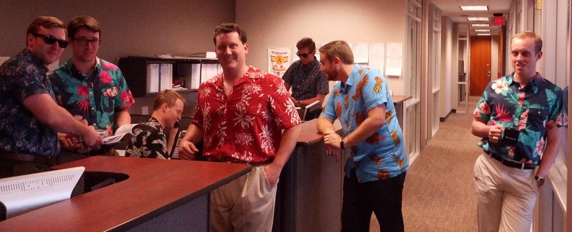 office space hawaiian shirt day clip photo - 1