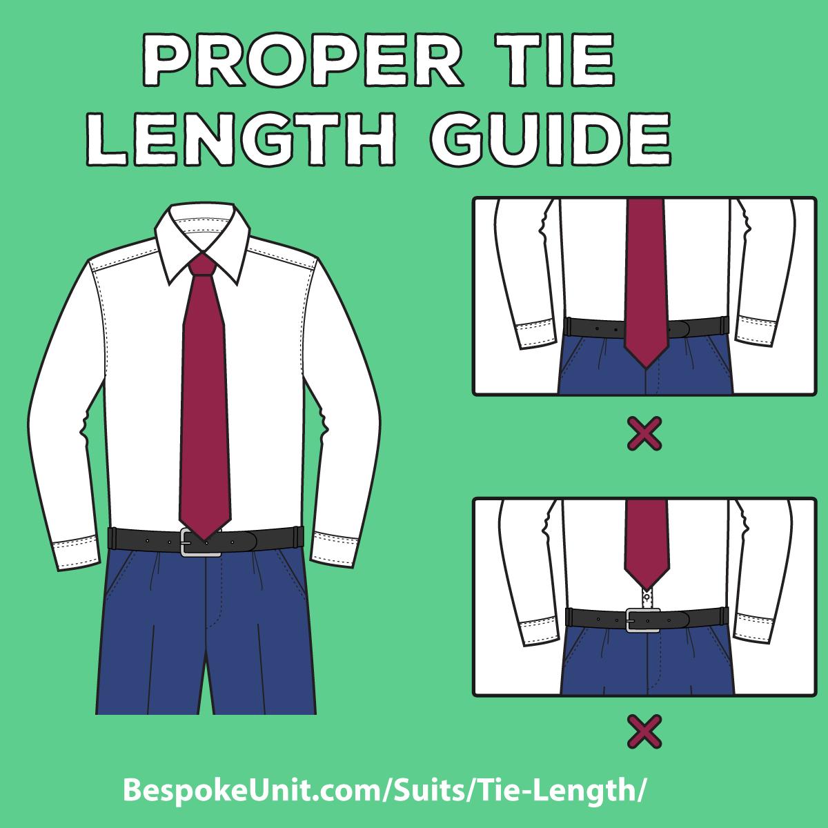 proper tie length photo - 1