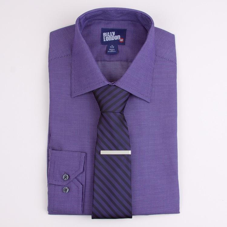 purple shirt and tie photo - 1