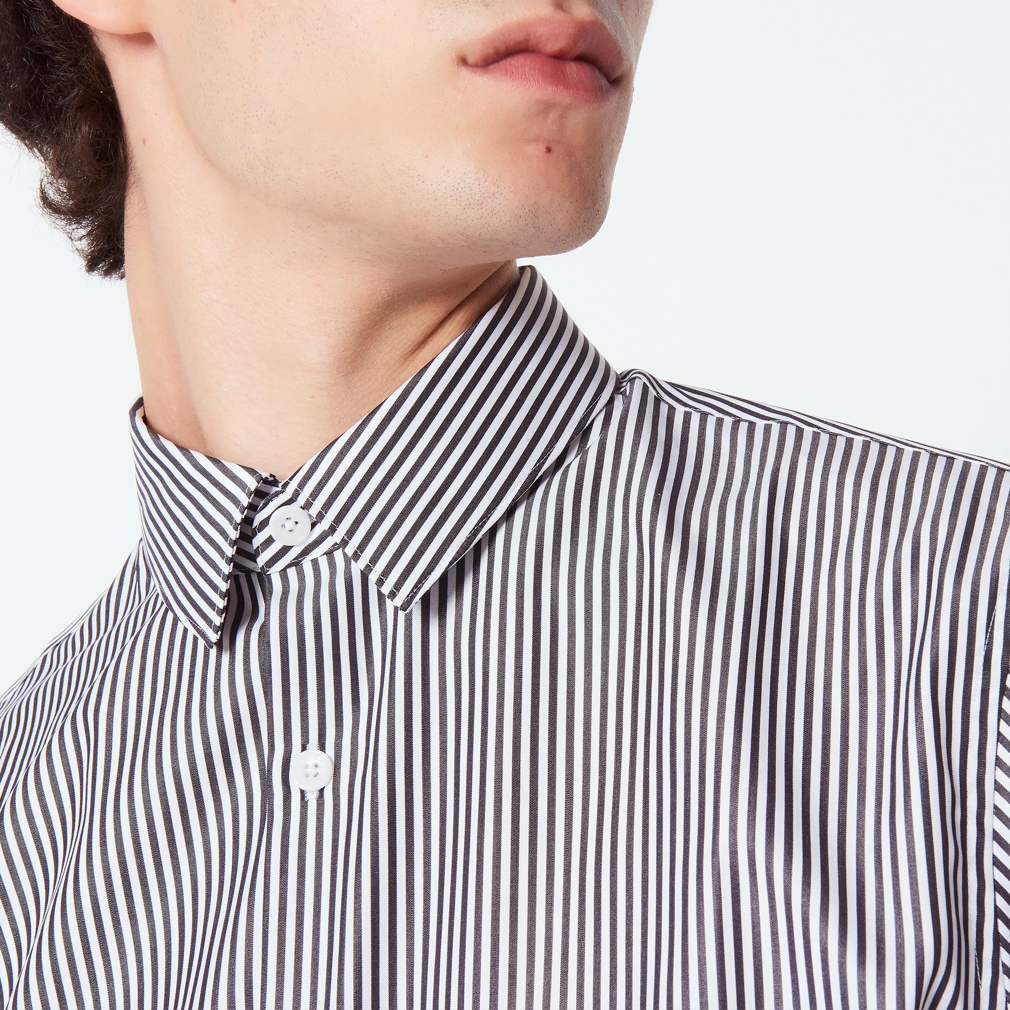 striped shirt office photo - 1