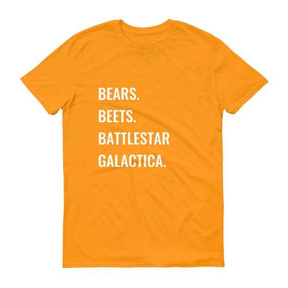 the office bears. beets. battlestar galactica t-shirt photo - 1