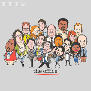 the office caricatures shirt photo - 1