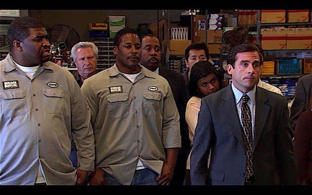 the office dunder mifflin warehouse staff shirt photo - 1
