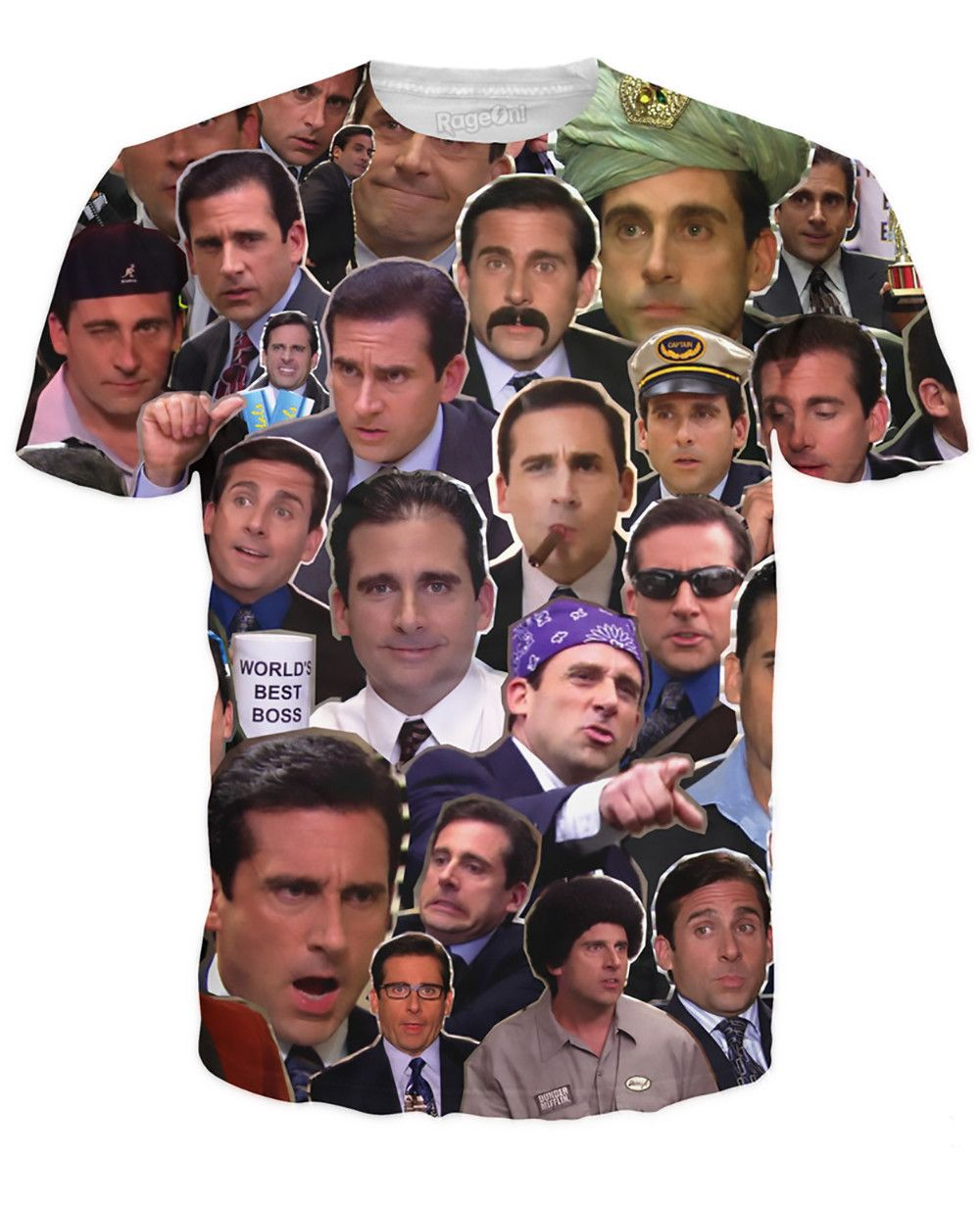 the office many faces of michael scott shirt photo - 1