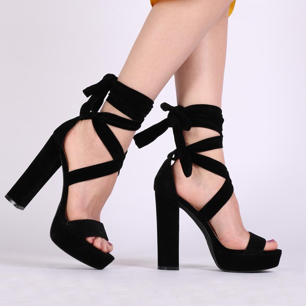 tie up heel boots photo - 1
