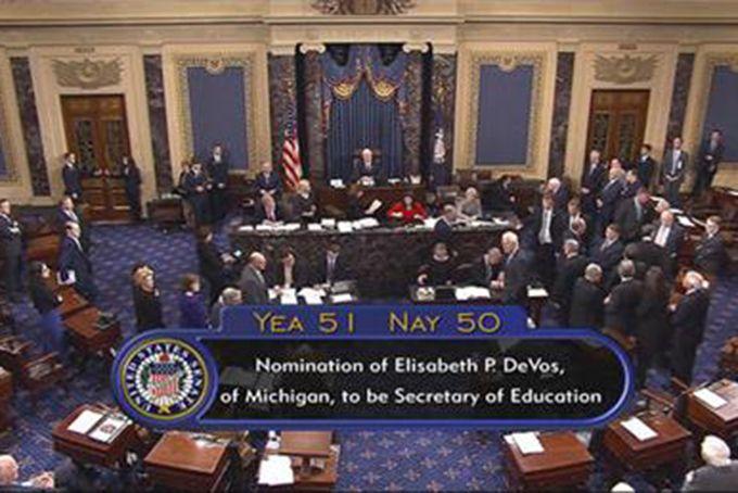 who breaks a tie in the senate photo - 1