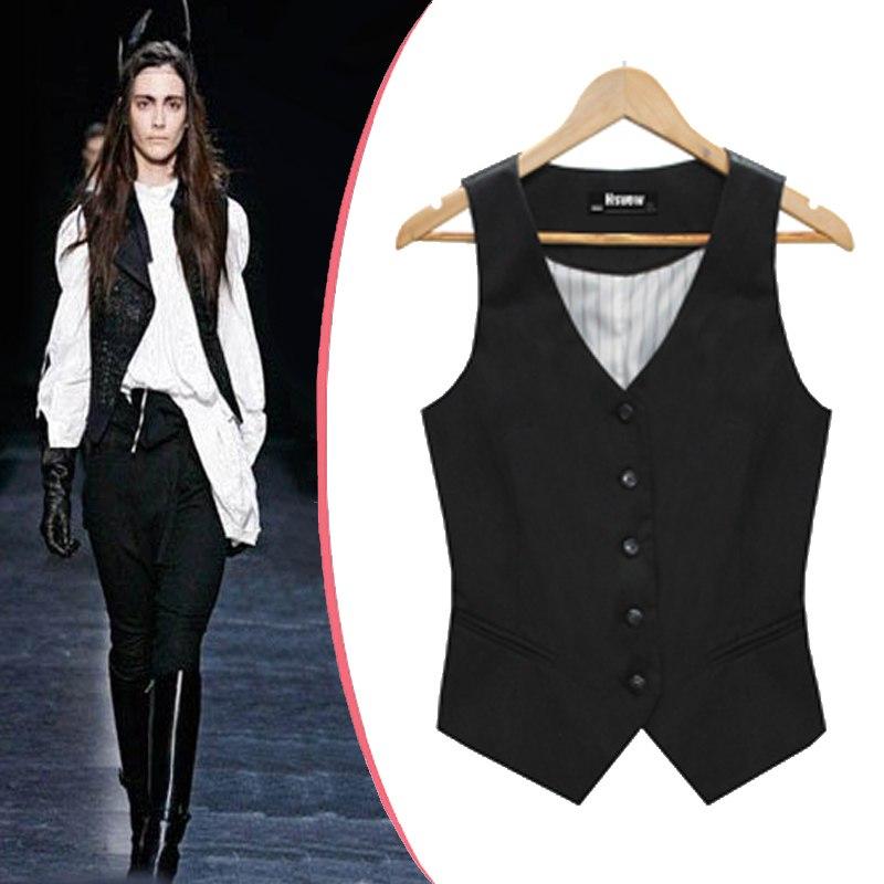 women black suit vest photo - 1